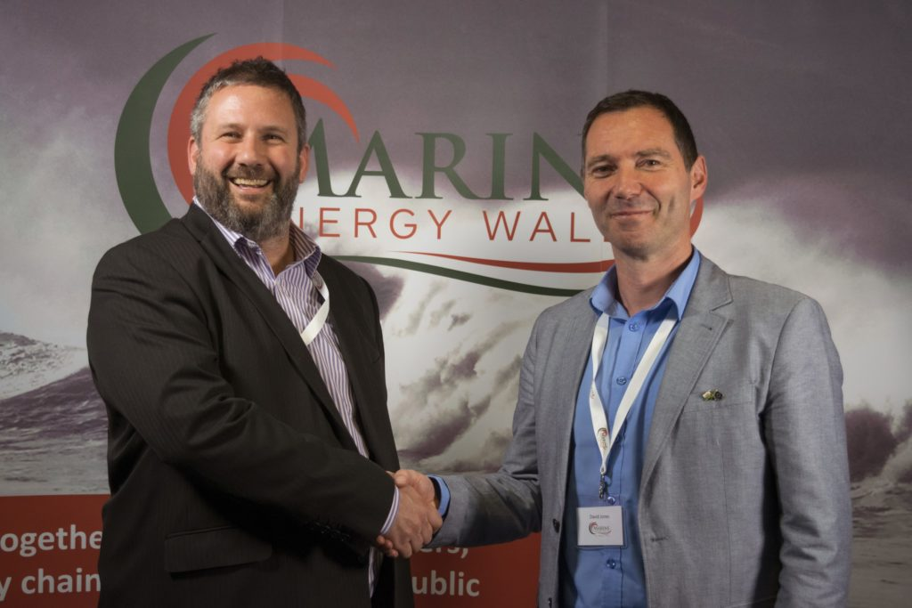 30.04.18 - Matt Hodson (left) Operations Director of Marine Hub Cornwall with David Jones, Project Director of Marine Energy Wales