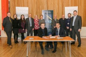 Morlais Director Gerallt Llywelyn Jones and Orbital Marine Power CEO Andrew Scott