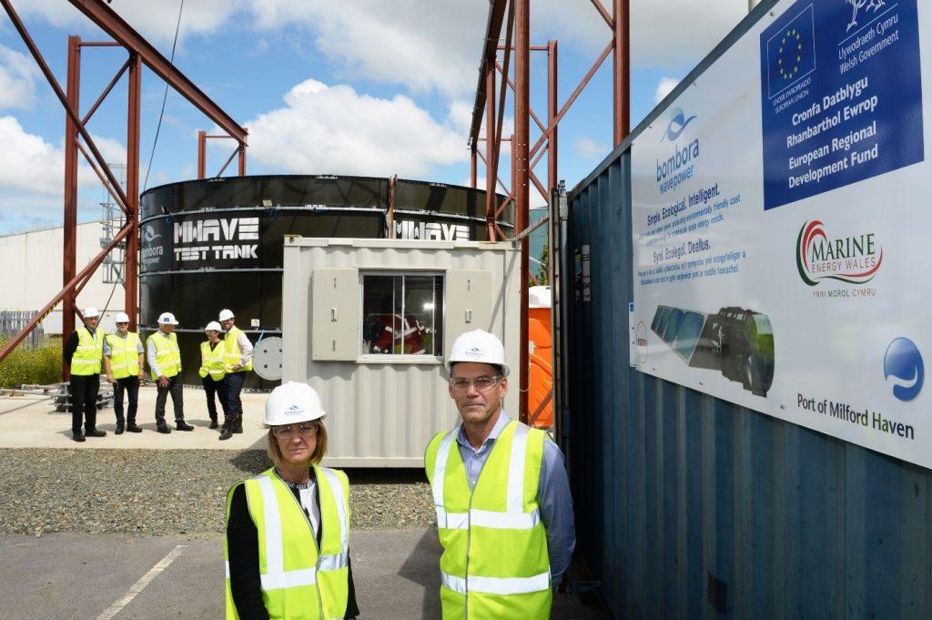Welsh European Funding Office visit Bombora Wave Power